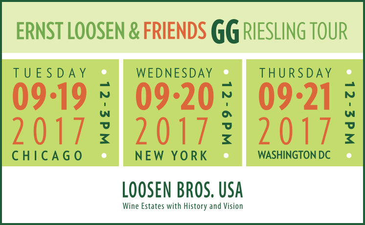 Join Us for Ernst Loosen & Friends GG Riesling Tour 2017